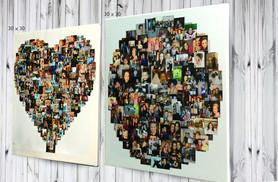 From £10 for a personalised photo collage canvas in a heart, square or circle-shaped design - choose from four sizes and save up to 78%