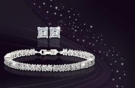 £9 instead of £99.99 (from Fakurma) for a tennis bracelet made with Swarovski Elements and matching stud earrings - save a sparkling 91%