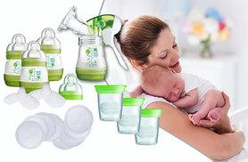 £34.99 (from Precious Little One) for a MAM breast feeding starter kit with a breast pump and 3 bottles, £44.99 for a breast pump and steriliser set - save up to 51%