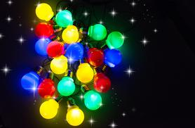 £10 instead of £49.99 for a 20 Multi-Coloured Party Lights from Gift Mountain - save up to 80%