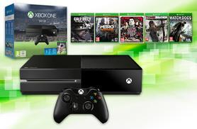 £360 for an Xbox One 500GB console and controller with a six-game bundle including FIFA 16, Call of Duty: Ghosts, Tomb Raider and more