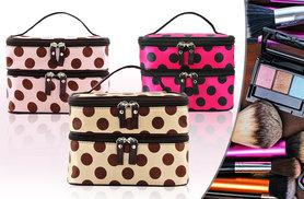 £6 instead of £19.99 (from Eden Wear) for a makeup bag with multiple compartments and double layer, £10 for two - choose gold, pink or red rose designs and save up to 70%