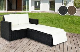 £139 instead of £499 (from Esenti) for a six-piece rattan set with love seat - choose from black and brown and save 72%