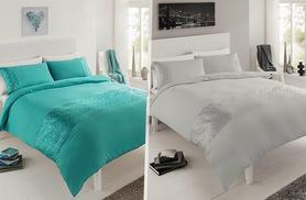 £12.99 (from Groundlevel.co.uk) for a single quilted faux silk duvet set, £15.99 for double, £18.99 for king, £19.99 for super king - choose from seven colours and save up to 71%
