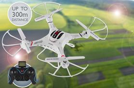 £59 (from Globi Toys) for a Pilot 360 long distance remote-controlled drone quadrocopter with photo and video surveillance