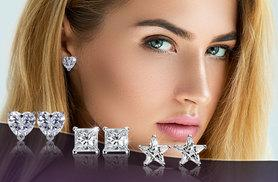 £6 instead of £49.99 (from Marcus Emporium) for three pairs of 6mm Swarovski Elements stud earrings - save 88%