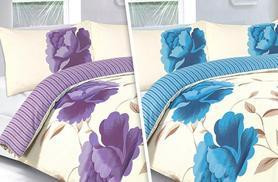 £9 (from Groundlevel.co.uk) for a single Rosaleen duvet set, £11 for a double, £13 for king or £16 for a super king - choose from seven colours and save up to 80%