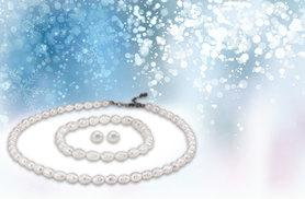 £9 instead of £120 (from Pearl Shed) for an ivory rice pearl tri set including necklace, earrings and bracelet - save 92%