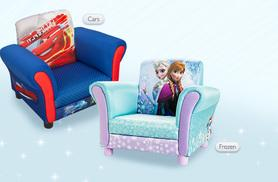 £35 instead of up to £56.95 for a kids' upholstered armchair - choose from Frozen, Doc Mcstuffins, Princess, Fairies, Sofia and Cars designs - save up to 39%