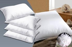 £8.99 instead of £29.99 (from Fusion Homeware) for two duck feather and down pillows, £16.99 for four or £24.99 for six - save up to 70%