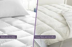 £11.99 (from Groundlevel.co.uk) for a single reversible mattress topper, £14.99 for a double, £18.99 for a king or £19.99 for a super king - save up to 76%