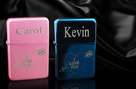 £7 instead of £28 (from Aspire) for a Valentine's Day personalised lighter in pink or blue - engrave with your own message and save 75%