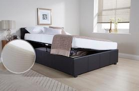 £129 for a side lift single ottoman bed, £179 with memory foam mattress, from £149 for a small double or double, from £179 for a king
