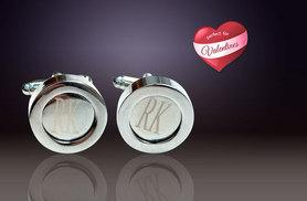 £10 instead of £59.99 (from Marcus Emporium) for a pair of 925 silver-plated personalised initial cufflinks - save 83%