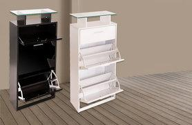 £59.99 for a three-drawer high gloss shoe cabinet from Wowcher Direct - choose from two colours + DELIVERY INCLUDED!