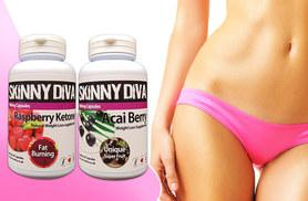 £9 instead of £44.98 (from Skinny Diva) for a one-month* supply of raspberry ketone and acai berry capsules, £19 for a three-month* supply - save up to 80%