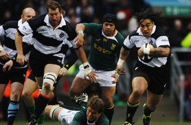 £24 for a concession ticket to see the Barbarians vs South Africa rugby match at Wembley Stadium, £44 for an adult ticket