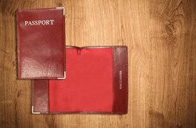 £2 instead of £7.99 for a leather passport holder from Funky Monkey Gift Shop - save up to 75%