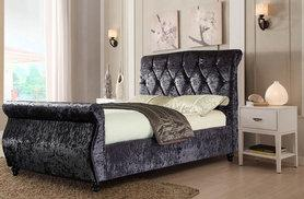 £259 (from Furniture Instore) for a double chesterfield sleigh bed, £299 for a king size or £319 for a super king - save up to 57%