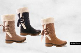 £18 instead of £66 (from Solewish) for a pair of stylish faux fur-lined boots - choose from six designs and save 73%