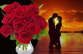 £15 instead of £37.99 for a bouquet of 12 Valentine's Day red roses - save 61%