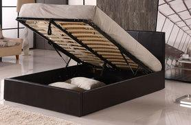 £109 (from Furniture Instore) for a single, small double, double or king size faux leather Ottoman storage bed - sleep tight and save up to 65%
