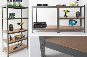 £24.99 for a heavy duty five-tier racking and storage shelving unit - choose blue or grey!