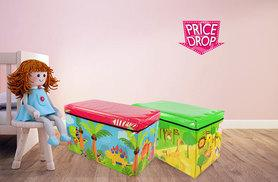 £9.99 instead of £29.99 (from Funky Buys) for a children's storage box seat - choose from six fun designs including princess, dinosaur and jungle and save 67%