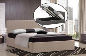 £129 for a single fabric ottoman storage bed, £144 for a double and £159 for a king size bed, or from £205 to include a memory foam mattress - save up to 68%