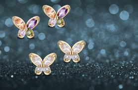 £8 instead of £40 (from Pearl Shed) for a pair of zircon butterfly earrings, £12 for two pairs - choose from two designs and save up to 80%