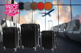 £65 instead of £449.99 (from MC California USA) for a three-piece luggage set - choose from five styles and save 86%