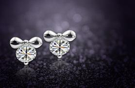 £5 (from Simply 24K) for a pair of crystal bow earrings made with Swarovski Elements