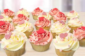 £8 instead of up to £45 for 18 Valentine's cupcakes from Ann's Designer Cakes, Sutton - save up to 82% + DELIVERY IS INLUDED!*