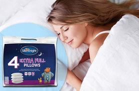 £14 instead of £29.99 (from Chums) for four extra full Silentnight pillows and protectors - save 53%