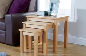 £49 (from Wowcher Direct) for a set of three oakwood nesting tables - save 59% + DELIVERY INCLUDED!