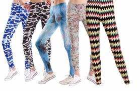 £6 instead of £26 (from Leggsington) for two pairs of ladies' leggings - choose from 18 styles and save 77%