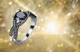 £16 instead of £269.99 (from Girly Glitz) for a black cubic zirconia ring - choose from five sizes and save a sparkling 94%
