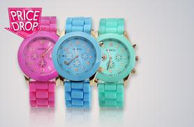 £5 instead of £24.99 (from Fakurma) for a unisex gel silicone Quartz Geneva watch - choose from nine colours and save 80%
