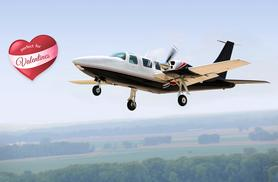 £149 for a romantic flight with lunch for two people at one of five UK locations from Into the Blue