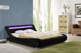 £189 (from Salebeds) for a contemporary LED Rio double bed, £199 for a king size - choose from white or black designs - save 61%