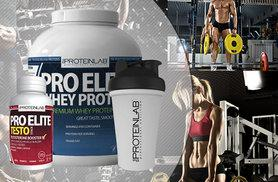 £34 instead of £109.98 (from The Protein Lab) for 2.25kg of whey protein shake, shaker bottle and 60 testosterone boosters - choose from three flavours and save 69%