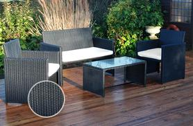 £170 instead of £274 for a premium four-piece black rattan garden furniture patio set from Deals Direct - save 38%