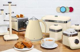 £99.99 instead of £294.94 (from Swan Products) for a Swan eight-piece retro Kitchen bundle – save 66%