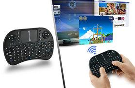 £8.99 instead of £49.99 (from EF Mall) 2.4GHz mini wireless QWERTY keyboard and TouchPad - connect to your PC, tablet, TV or games console and save 82%