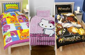£6.99 instead of £17 (from Linen Ideas) for a kids' Thundercats, Charmmy Kitty or Moshi Monsters single duvet and pillow case - save 59%