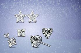 £6 instead of £69 (Elle & Be) for three pairs of stud earrings made with Swarovski Elements - save 91%