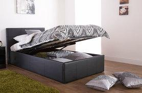 From £99 (from FTA Furnishings) for a faux leather ottoman storage bed, from £179 to include a quality memory foam mattress - save up to 50%