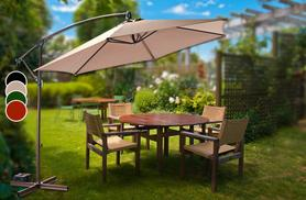 £49.99 instead of £144.99 (from Groundlevel.co.uk) for a large overhanging banana parasol - choose from four colours and save 63%