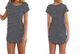 £6.99 instead of £19.99 for a long tunic-style striped top - snap up a staple and save 65%