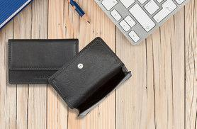 £10 instead of £33 (from Antler) for a genuine leather travel card holder - choose black or pink and save 70%